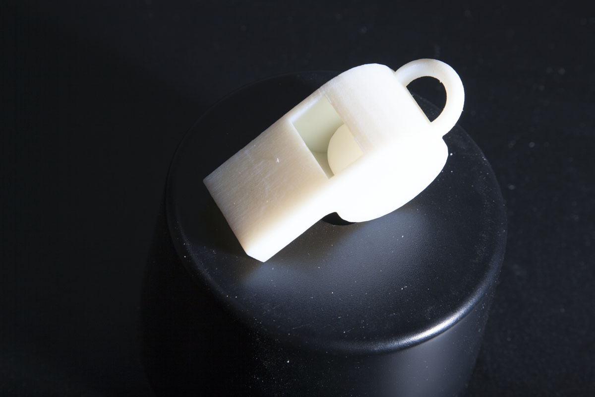 Prototipo de pieza impresa en 3D.
