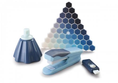 prototipos impresos 3d en azul con impresora connex 3