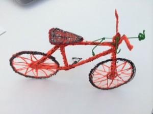 bici impresa con boli 3Doodler
