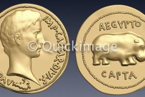 Moneda Augusto Quaternion