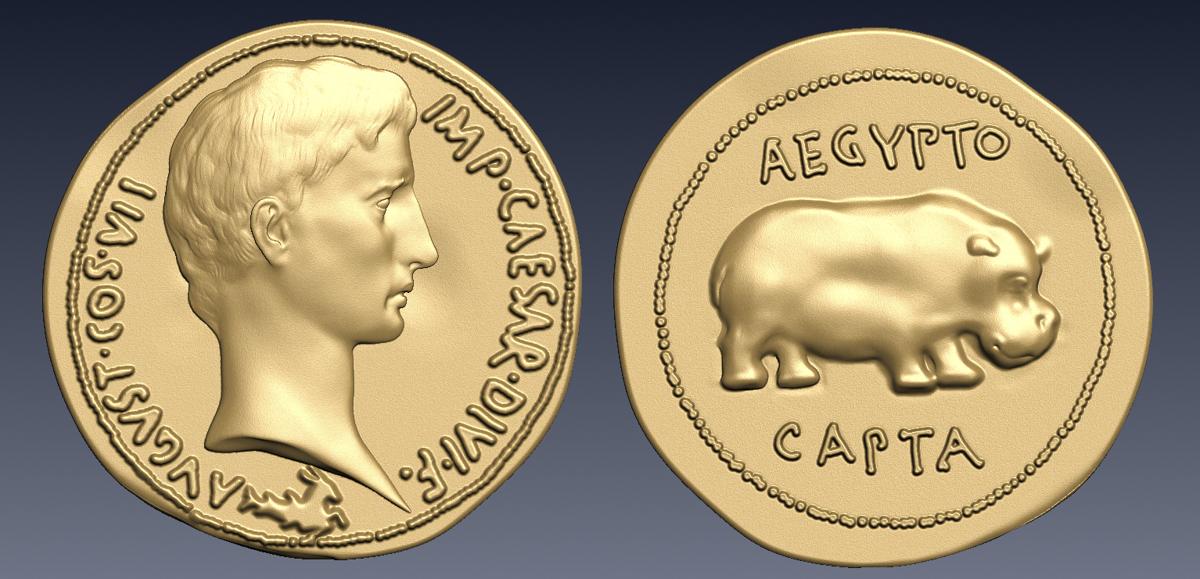 Render Moneda Augusto Quaternion cma-1