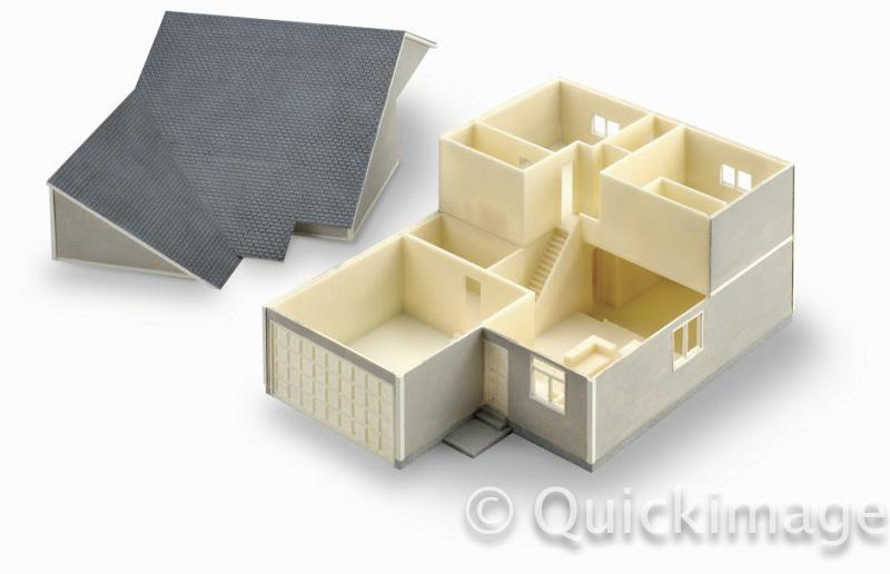 Maqueta de arquitectura impresa en ABSi en Fortus450