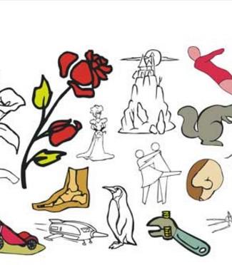 30.000 sign graphics muestra dibujos vectoriales