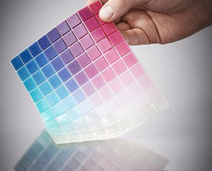 Paleta de colores traslucidos de impresion en polyjet con connex3